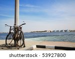two bicycle at fish market ... | Shutterstock . vector #53927800