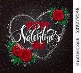 vector happy valentines day... | Shutterstock .eps vector #539279548