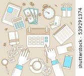 calendar line design....   Shutterstock .eps vector #539291374