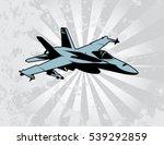 fighter attack jet | Shutterstock .eps vector #539292859