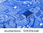 electronic circuit board close... | Shutterstock . vector #539296168