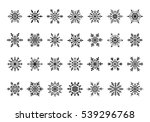 snowflakes symbols collection... | Shutterstock .eps vector #539296768