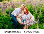 stylish family sitting in a... | Shutterstock . vector #539297938