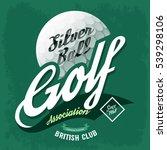 golf ball as symbol for t shirt ...   Shutterstock .eps vector #539298106