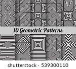 set of 10 geometric patterns.... | Shutterstock .eps vector #539300110