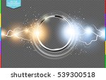 abstract metal chrome ring... | Shutterstock .eps vector #539300518