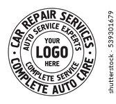 auto repair services badge... | Shutterstock .eps vector #539301679