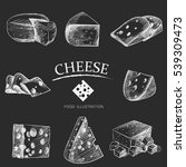 graphic hand drawn cheese... | Shutterstock .eps vector #539309473