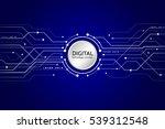 hi tech computer digital... | Shutterstock .eps vector #539312548