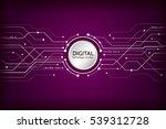 hi tech computer digital... | Shutterstock .eps vector #539312728