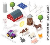 isometric 3d vector farm set.... | Shutterstock .eps vector #539316064