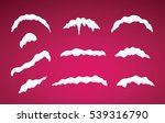 snow caps lying on menu bar and ... | Shutterstock .eps vector #539316790