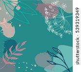 modern vector abstract floral... | Shutterstock .eps vector #539319349