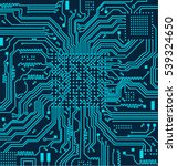 high tech circuit board vector... | Shutterstock .eps vector #539324650