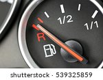 fuel gauge in car dashboard  ... | Shutterstock . vector #539325859