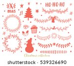 the set of christmas hand drawn ... | Shutterstock .eps vector #539326690