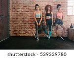 full length shot of three young ... | Shutterstock . vector #539329780