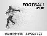 football of the particles... | Shutterstock .eps vector #539329828