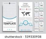 set flyer size 210x99 mm in 4...   Shutterstock .eps vector #539330938