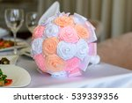 weding bouquet on a table | Shutterstock . vector #539339356