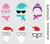 christmas and winter set of...   Shutterstock . vector #539342878