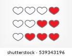 heart background   Shutterstock .eps vector #539343196