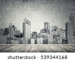 silhouette of modern city... | Shutterstock . vector #539344168