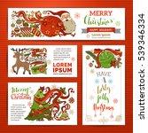 vector set of merry christmas... | Shutterstock .eps vector #539346334