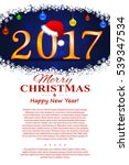 christmas flyer in a white... | Shutterstock .eps vector #539347534