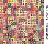 colorful vintage seamless... | Shutterstock .eps vector #539347789