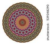 ethnic colorful floral mandala. ...   Shutterstock .eps vector #539348290