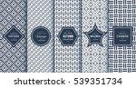 blue line seamless pattern... | Shutterstock .eps vector #539351734