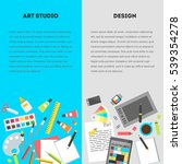 set vertical banners  flat... | Shutterstock .eps vector #539354278