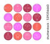 vector line icons for... | Shutterstock .eps vector #539356660