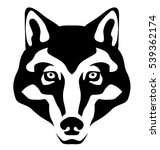 graphic illustration of a wolf... | Shutterstock .eps vector #539362174