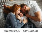 young parents giving lots of... | Shutterstock . vector #539363560