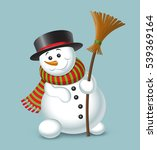 cute christmas snowman isolated ... | Shutterstock .eps vector #539369164