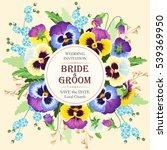vintage wedding invitation | Shutterstock .eps vector #539369950