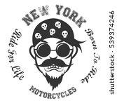 bikers logo. vector illustration | Shutterstock .eps vector #539374246