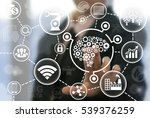 industrial brain gear web... | Shutterstock . vector #539376259