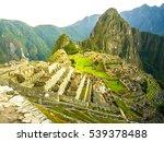 machu picchu  peruvian lost... | Shutterstock . vector #539378488
