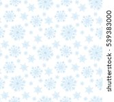 christmas seamless pattern with ... | Shutterstock . vector #539383000