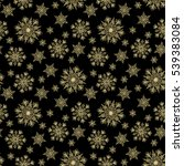 christmas seamless pattern with ... | Shutterstock . vector #539383084