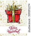 feliz navidad. holidays... | Shutterstock .eps vector #539391274