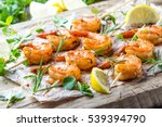 grilled shrimps. shrimps... | Shutterstock . vector #539394790
