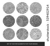 collection isolated textures ... | Shutterstock .eps vector #539402914