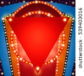 retro stage shining banner... | Shutterstock .eps vector #539403016