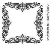 vintage baroque frame scroll... | Shutterstock .eps vector #539404390