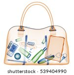briefcase under xray on... | Shutterstock . vector #539404990