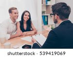 happy young family working with ...   Shutterstock . vector #539419069